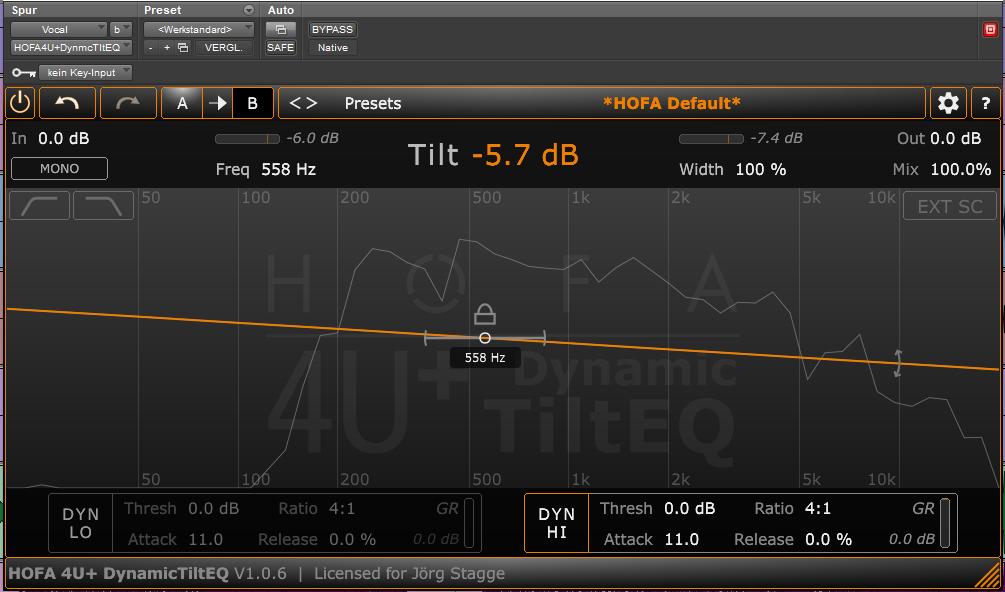 Hofa 4U + Dynamic Tilt EQ